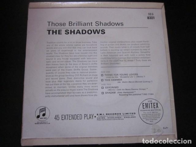 Discos de vinilo: THE SHADOWS - THOSE BRILLIANT SHADOWS - EP - EDICION INGLESA. - Foto 2 - 75228495