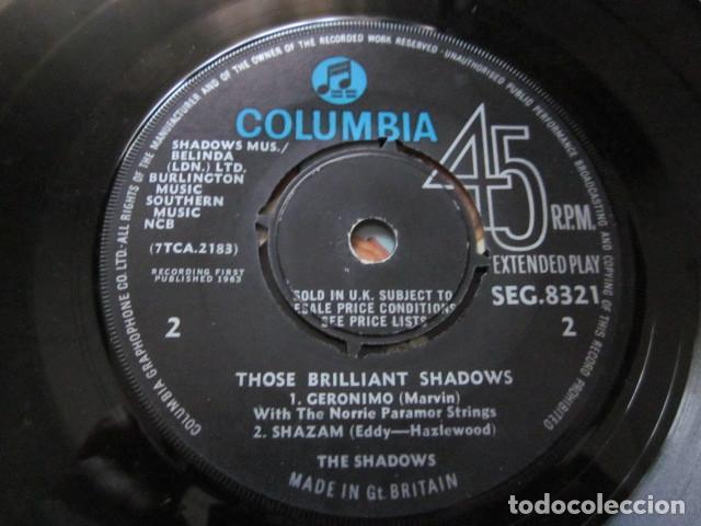 Discos de vinilo: THE SHADOWS - THOSE BRILLIANT SHADOWS - EP - EDICION INGLESA. - Foto 4 - 75228495