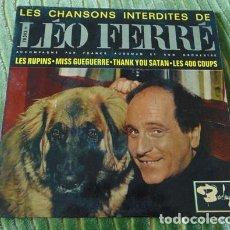 Discos de vinilo: LÉO FERRÉ – LES CHANSONS INTERDITES DE LÉO FERRÉ - EP 1961. Lote 75236263