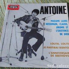 Discos de vinilo: ANTOINE – MADAME LAURE MESSENGER, CLAUDE, JEREMIE ET L'EXISTENCE DE DIEU - EP 1967. Lote 75236819