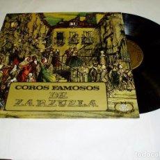 Discos de vinilo: LP COROS FAMOSOS DE ZARZUELA 1971. Lote 75241991