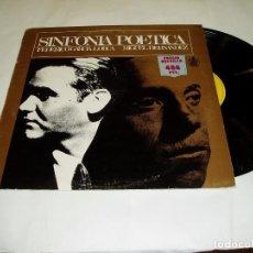 Discos de vinilo: LP SINFONÍA POÉTICA DE FEDERICO GARCIA LORCA 1983. Lote 75249603