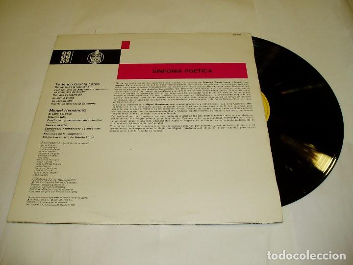 Discos de vinilo: LP SINFONÍA POÉTICA DE FEDERICO GARCIA LORCA 1983 - Foto 2 - 75249603