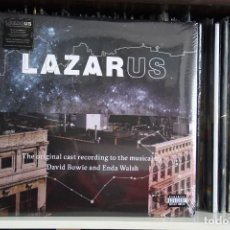 Discos de vinilo: DAVID BOWIE, LAZARUS, TRIPLE LP, PORTADA TRIPLE, THE ORIGINAL CAST RECORDING TO THE MUSICAL BY DAVID. Lote 75254763