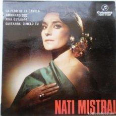 Discos de vinilo: NATI MISTRAL ''LA FLOR DE LA CANALA'' AÑO 1966 VINILO DE 7'' ES UN EP. Lote 75256511