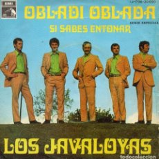 Discos de vinilo: JAVALOYAS, SG, OBLADI OBLADA + 1, AÑO 1968. Lote 75279615