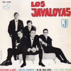 Discos de vinilo: JAVALOYAS, EP, EVERYTHING´S AL ´RIGHT + 3, AÑO 1964. Lote 75279979