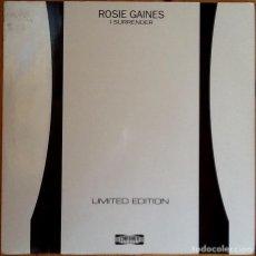 Discos de vinilo: ROSIE GAINES : I SURRENDER [ESP 1998] 12'. Lote 75285663