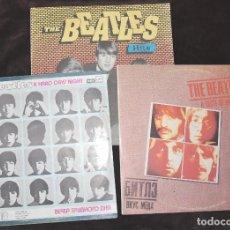 Discos de vinilo: LOTE TRES DISCOS -THE BEATLES A HARD DAYS NIGHT .THE BEATLES HITS.THE BEATLES A TASTE OF HONEY. Lote 99478476