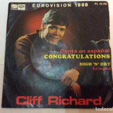 Discos de vinilo: CLIFF RICHARD,CONGRATULATIONS . Lote 75292331