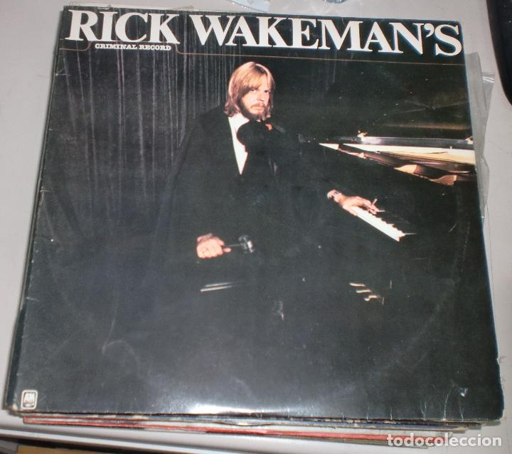 LP. RICK WAKEMAN'S. CRIMINAL RECORDS. 1977. A&M RECORDS (Música - Discos de Vinilo - EPs - Otros estilos)