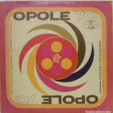 Discos de vinilo: OPOLE 70 - VIII KRAJOWY FESTIWAL PIOSENKI POLSKIEJ - MUZA POLSKIE NAGRANIA. Lote 75411223