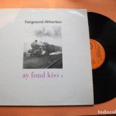 Discos de vinilo: FAIRGROUND ATTRACTION AY FOND KISS LP SWPAIN 1990 PDELUXE . Lote 75413827
