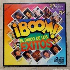 Discos de vinilo: LP ¡BOOM! EL DISCO DE LOS ÉXITOS - DOBLE LP - EMI 1985.. Lote 75423739