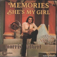Disques de vinyle: MORRIS ALBERT - MEMORIES / SHE'S MY GIRL - SINGLE DE 1976 RF-1708. Lote 75465015