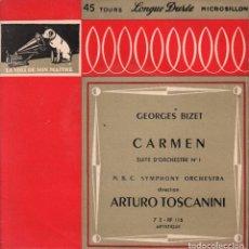 Discos de vinilo: GEORGES BIZET - CARMEN SUITE D´ORCHESTRE Nº1 EP RF-1709 , BUEN ESTADO. Lote 75465427