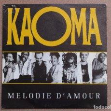 Discos de vinilo: KAOMA - MELODIE D'AMOUR - DISCO PROMOCIONAL DE UNA SOLA CARA. Lote 75491579