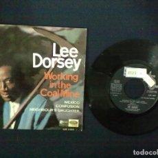 Discos de vinilo: LEE DORSEY WORKING IN A COAL MINE + 3 PROMOCIONAL. Lote 75498059
