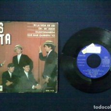 Discos de vinilo: LOS BETA SI LA VIDA ES ASI + 3 PROMOCIONAL. Lote 75498531