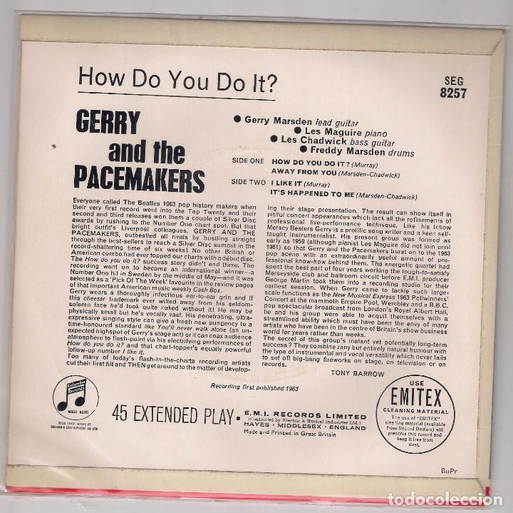Discos de vinilo: GERRY AND THE PACEMAKERS; HOW DO YOU DO IT? + AWAY FROM YOU + I LIKE IT +1, ORIGINAL INGLÉS - Foto 2 - 75515915