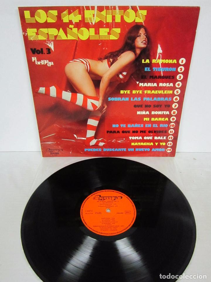 LOS 14 EXITOS ESPAÑOLES VOL 3 - LP - LA BRIGADA - OLYMPO 1976 SEXY COVER (Música - Discos - LP Vinilo - Grupos Españoles de los 70 y 80)