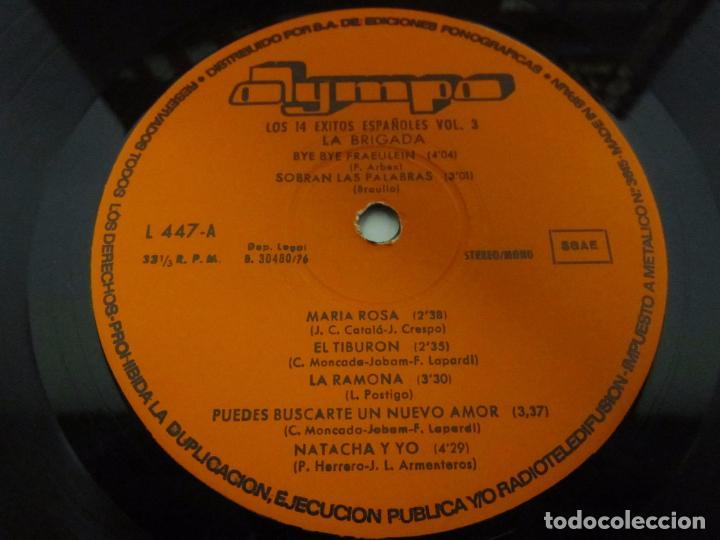 Discos de vinilo: LOS 14 EXITOS ESPAÑOLES VOL 3 - LP - LA BRIGADA - OLYMPO 1976 SEXY COVER - Foto 2 - 75520783