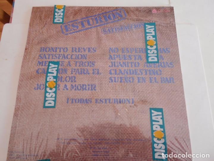 Discos de vinilo: ESTURION-LP SATISFACCION -ENCARTE LETRAS-1991-NUEVO - Foto 2 - 75526599
