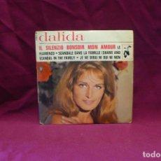Discos de vinilo: DALIDA, IL SILENZIO, BONSOIR MON AMOUR, LE FLAMENCO, JE NE DIRAI NI OUI NI NON, FRANCES.. Lote 75560575