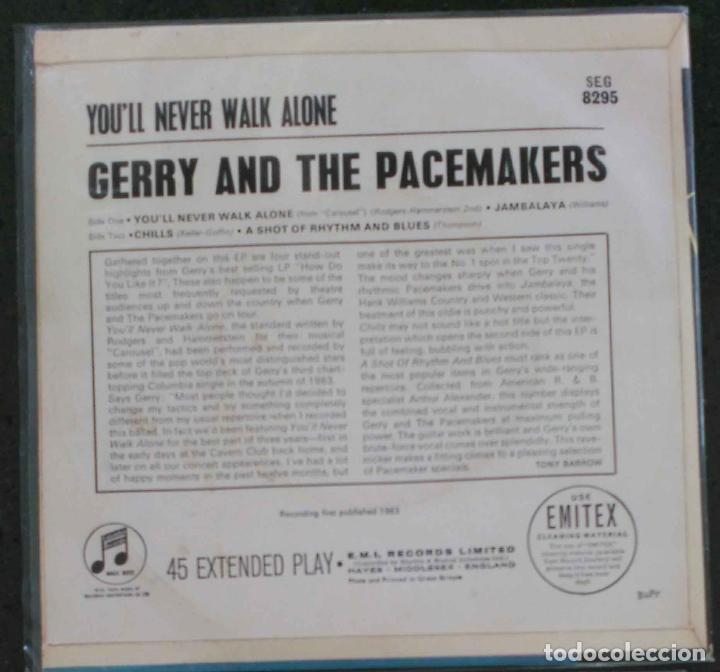 Discos de vinilo: GERRY AND THE PACEMAKERS; YOU´LL NEVER WALK ALONE + JAMBALAYA +2 EDICIÓN INGLESA ORIGINAL - Foto 2 - 75512891