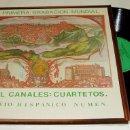 Discos de vinilo: LP- MANUEL CANALES CUARTETO HISPÁNICO NUMEN 1981.PRIMERA GRABACIÓN MUNDIAL. Lote 75617571