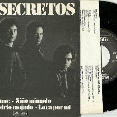 Discos de vinilo: LOS SECRETOS. DEJAME + 3 (VINILO EP 1980). Lote 75626991