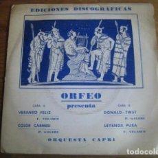 Discos de vinilo: ORQUESTA CAPRI - DONALD TWIST + 3*************** RARO EP SELLO IBERIA 1976. Lote 75634183