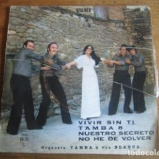 Discos de vinilo: ORQUESTA TAMBA 8 - VIVIR SIN TI + 3*************** RARO EP SELLO BCD 1976. Lote 75634339