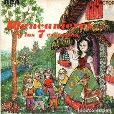 Discos de vinilo: BLANCANIEVES- SINGLE RCA VICTOR 1967 .- CUENTOS. Lote 75644371