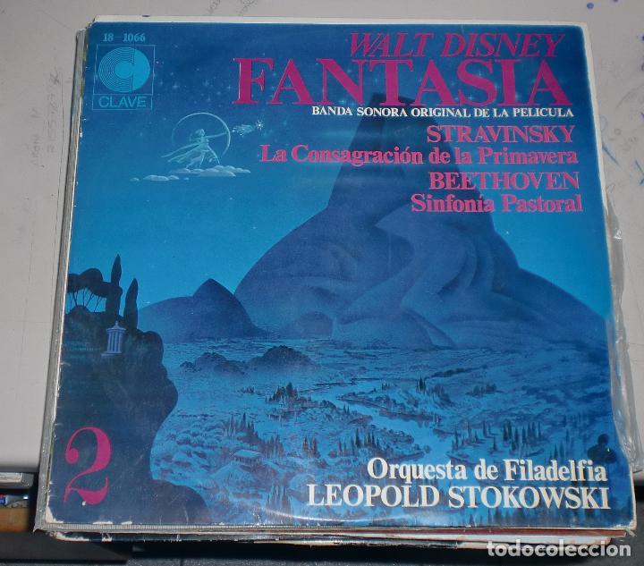 LP. WALT DISNEY. FANTASIA 2. BANDA SONORA DE LA PELICULA. LEOPOLD STOKOWSKI. HISPAVOX. (Música - Discos - LP Vinilo - Bandas Sonoras y Música de Actores )