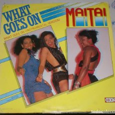 Discos de vinilo: LP. MAITAI. WHATGOES ON. INSTRUMENTAL VERSION. 1984. MOVIEGRAF. Lote 75672211