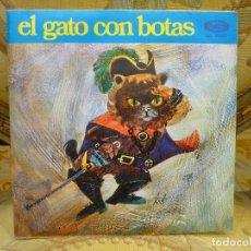 Discos de vinilo: EL GATO CON BOTAS. TEATRO INFANTIL SAMANIEGO. MOVIE PLAY 1.970.. Lote 75674619