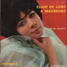 Discos de vinilo: CLAIR DE LUNE A MAUBEUGE - VALSE EN ACCORDS SINGLE RF-1721 , BUEN ESTADO. Lote 75681263