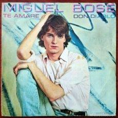 Dischi in vinile: MIGUEL BOSÉ: TE AMARÉ / DON DIABLO, SINGLE CBS 8816. SPAIN, 1980. VG+/VG . Lote 75682779
