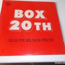 Discos de vinilo: BOX 20 TH NADA FOR ME, NADA FOR YOU - MIDNIGHT HORROR - DISCOS VICTORIA 1983 ED ESPAÑOLA. Lote 75685879