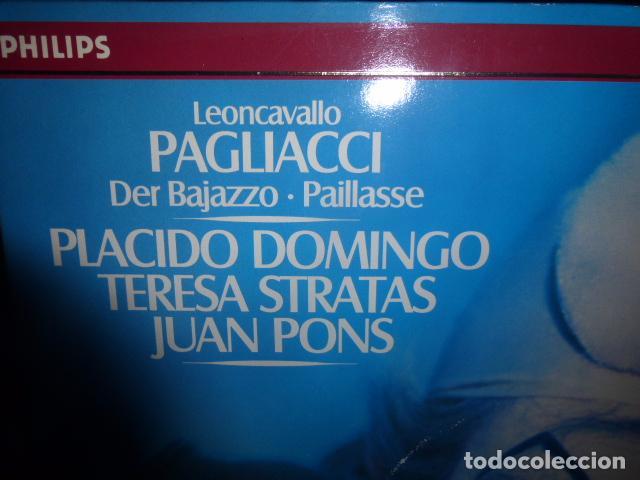 Discos de vinilo: DOBLE DISCO DE VINILO LEONCAVALLO PAGLIACCI - PLACIDO DOMINGO, TERESA STRATAS, JUAN PONS - Foto 2 - 75691519