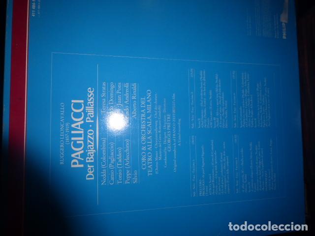 Discos de vinilo: DOBLE DISCO DE VINILO LEONCAVALLO PAGLIACCI - PLACIDO DOMINGO, TERESA STRATAS, JUAN PONS - Foto 4 - 75691519