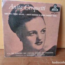 Discos de vinilo: ANITA CERQUETTI -CANTA DIVA-Y 3 MAS. Lote 75725083