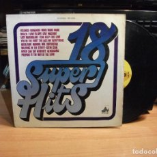 Discos de vinilo: 18 SUPER HITS LP NEVADA 1977 SPAIN VARIOS PEPETO. Lote 75744387