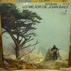 Discos de vinilo: LO MEJOR DE JOAN BÁEZ. HISPAVOX 1.965.. Lote 75761419