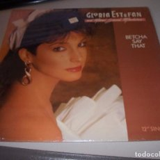 Discos de vinilo: GLORIA ESTEFAN AND MIAMI SOUND MACHINE, BETCHA SAY THAT, 12 SINGLE. 1.987. EPIC STEREO 49 06962. Lote 128849803