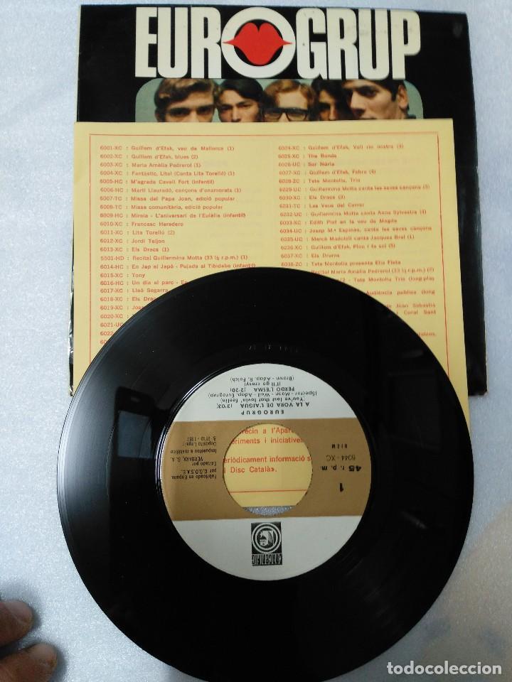 Discos de vinilo: EUROGRUP-L´ESTIU A CIUTAT EP - CONTIENE LAS HOJAS DE LAS CANCIONES - Foto 2 - 75786107