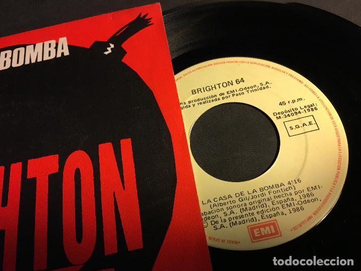Discos de vinilo: BRIGHTON 64 (LA CASA DE LA BOMBA / EL REY DE COPAS) SINGLE ESPAÑA 1986 (EPI5) - Foto 2 - 75816547