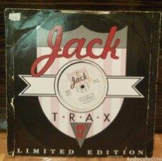 Discos de vinilo: VINILO LP CON DOS TEMAS JACK TRAX EDICIÓN LIMITADA. Lote 75830657