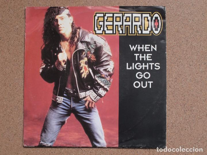 GERARDO - WHEN THE LIGHTS GO OUT (DR.FREEZE MIX + LP VERSION) (Música - Discos - Singles Vinilo - Pop - Rock Extranjero de los 90 a la actualidad)